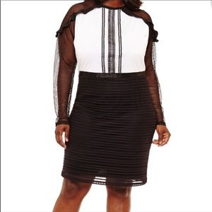 Project Runway black and white cocktail dress